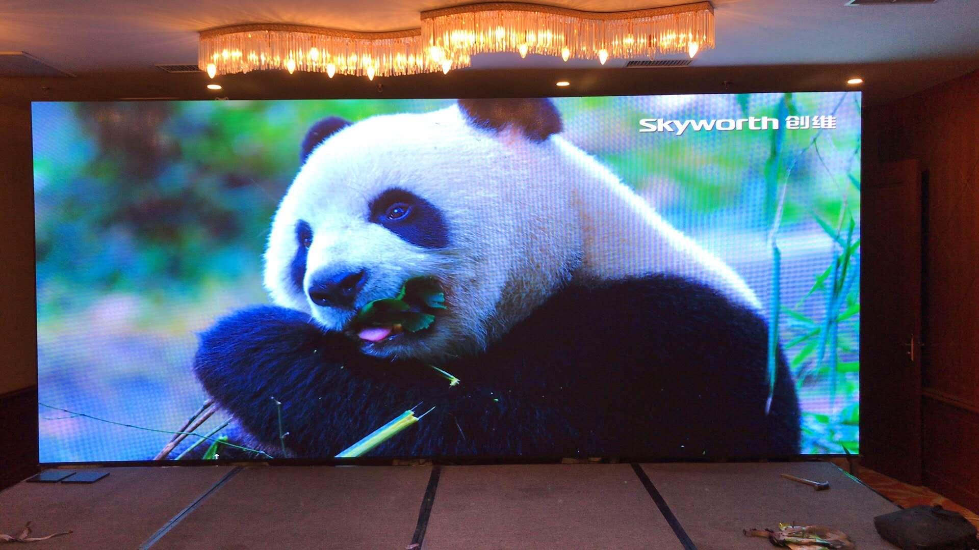 泰西宾馆室内P3全彩LED显示屏案例